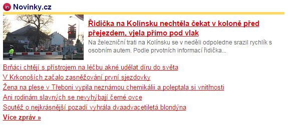 Homepage Seznamu