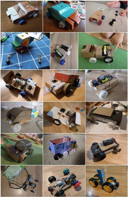 Generační vývoj prototypů vozu Albín.